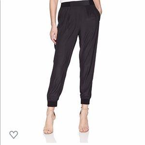 Ramy Brook Pants Womens Small Silk Joggers Black